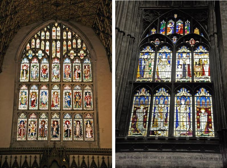 1896 and 1954 Cathedral Windows
