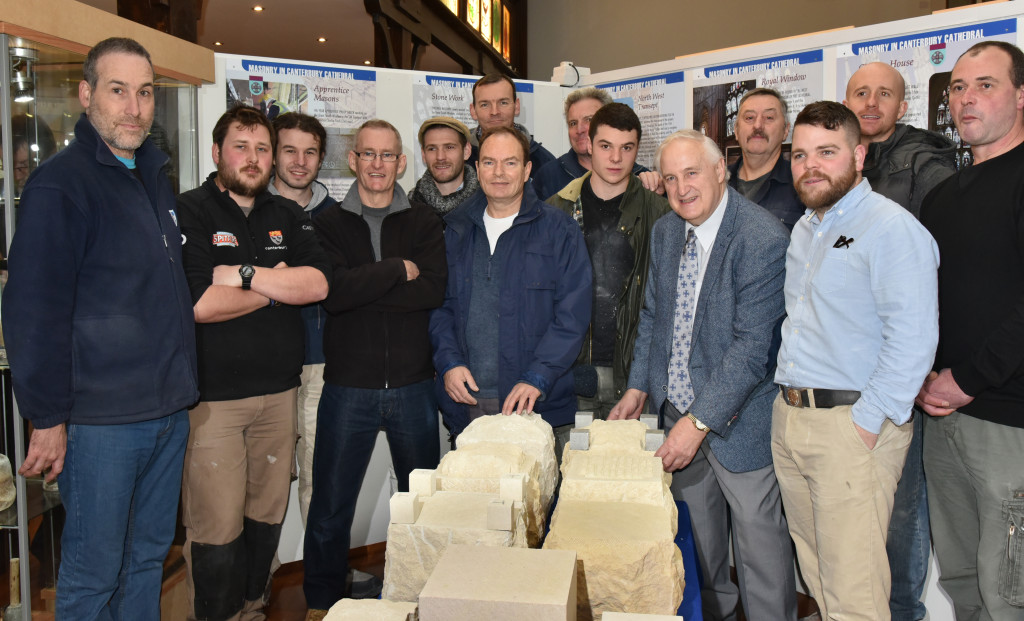 Roger Odd with canterbury Cathedral Stonemasons